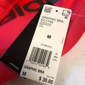 adidas Intimates & Sleepwear - Adidas Coral Graphic Sport Bra